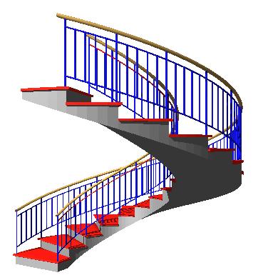 Domus cad pro bim 3d architectural cad interstudio for Spiral stair cad